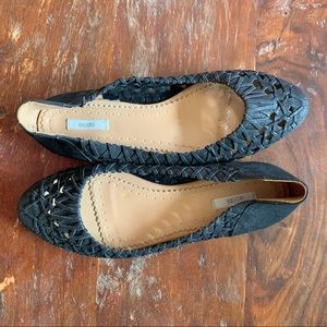 Urban Outfitters Braided Ecote Suede Ballet Flats